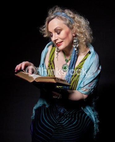 Female Storyteller (mature) : Stock Photo