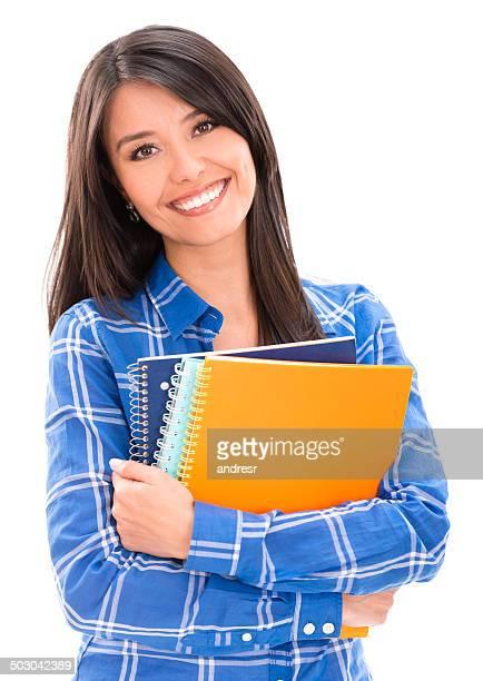 Donna studente con notebook