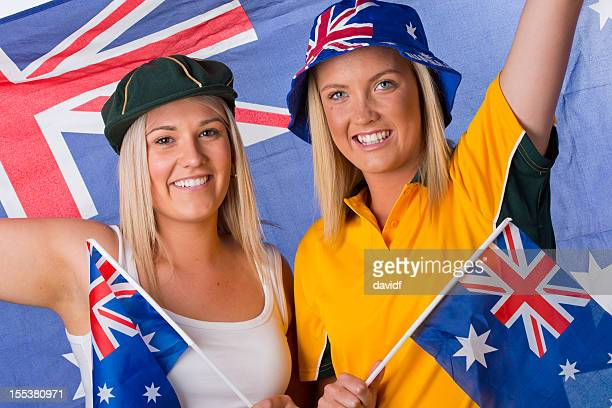 Female Supporters Cheering for Australia