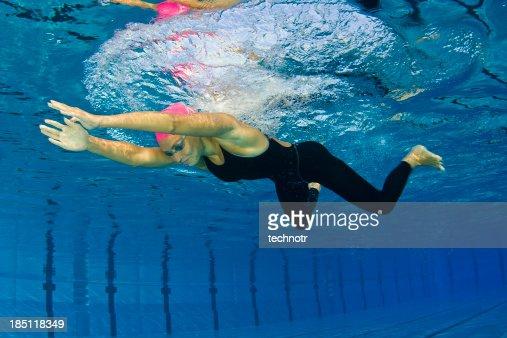 Female swimmer at breaststroke