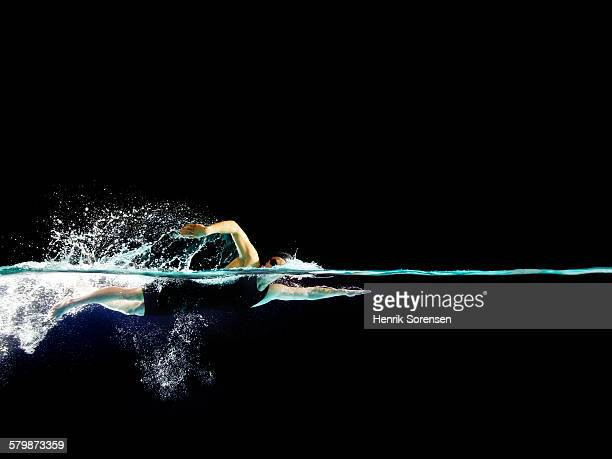 Female swimmer in front crawl