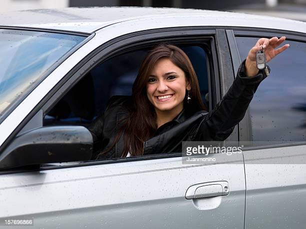 Weibliche Teenager hispanic Fahrer