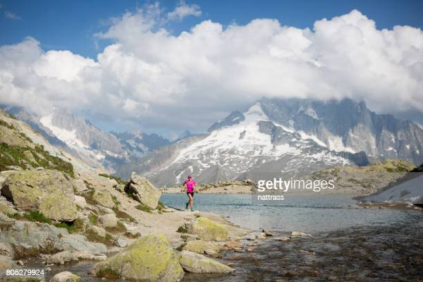 Femelle Trail running en Français Alpes