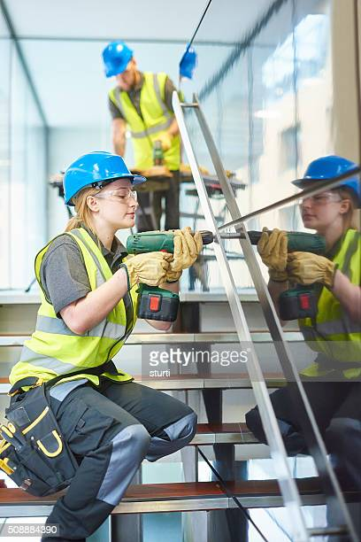 female trainee construction worker