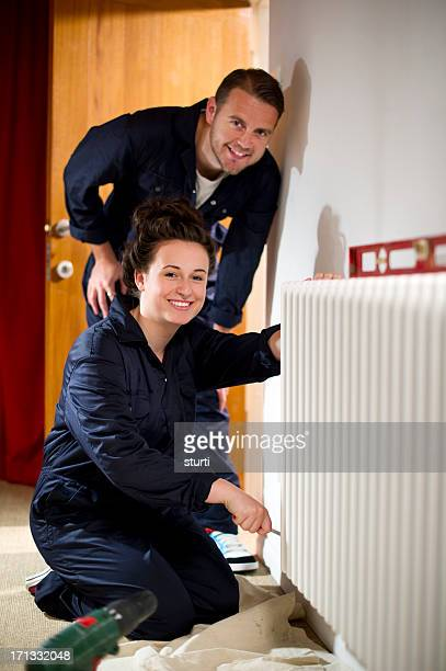 female trainee plumber