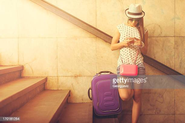 Femme de voyageur