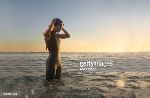 Female Triathlon Athlete at Sunrise