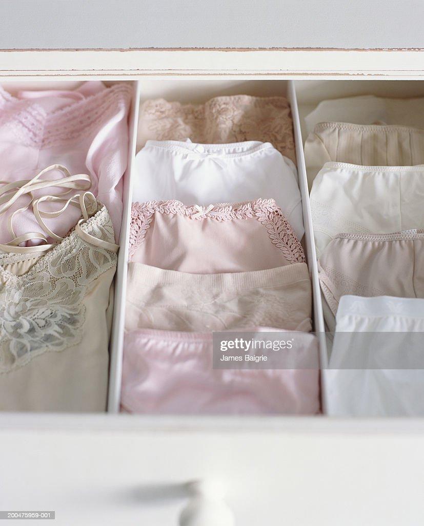Female underwear in drawer