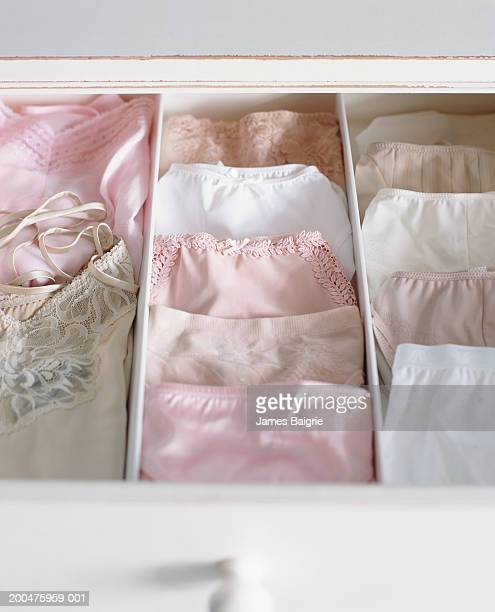 Female underwear in drawer