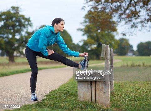Female Urban Runner : Stock Photo