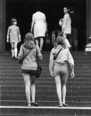 Female visitors in 'hot pants' entering St Paul's Cathedral London Visitors in such garb would not be allowed to enter St Peter's in Rome