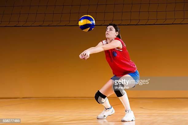Weibliche volleyball-Spieler.