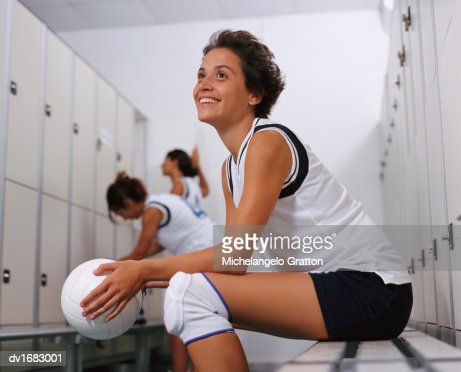 Volleyball girls changing