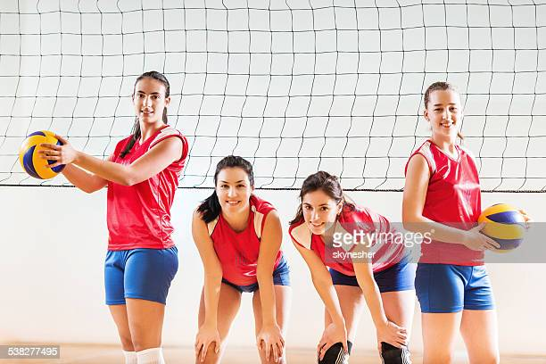 Female volleyball team.