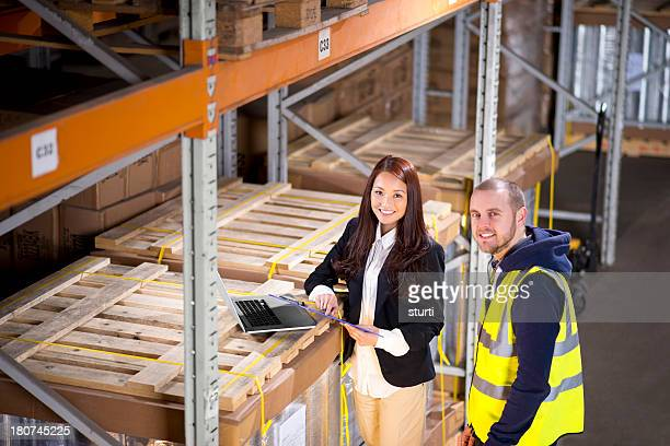female warehouse manager