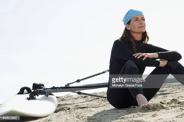 Female windsurfer