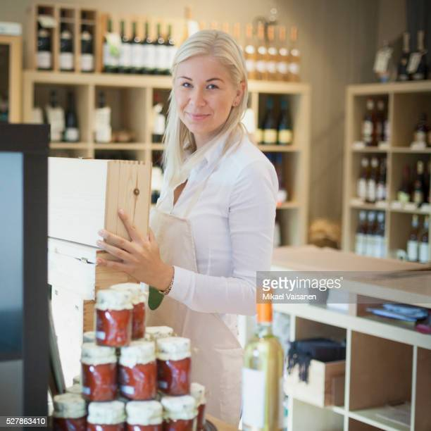 Female wine dealer