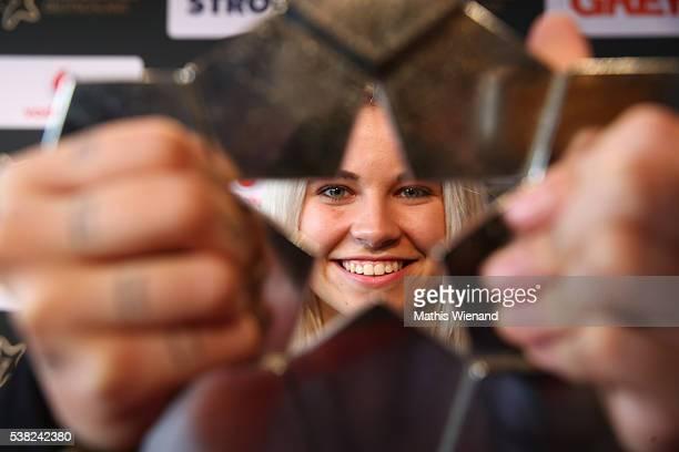 Female Winner Melina Sophie during the Webvideopreis Deutschland 2016 at Castello on June 4 2016 in Duesseldorf Germany