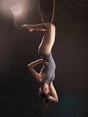 female with arial hoop