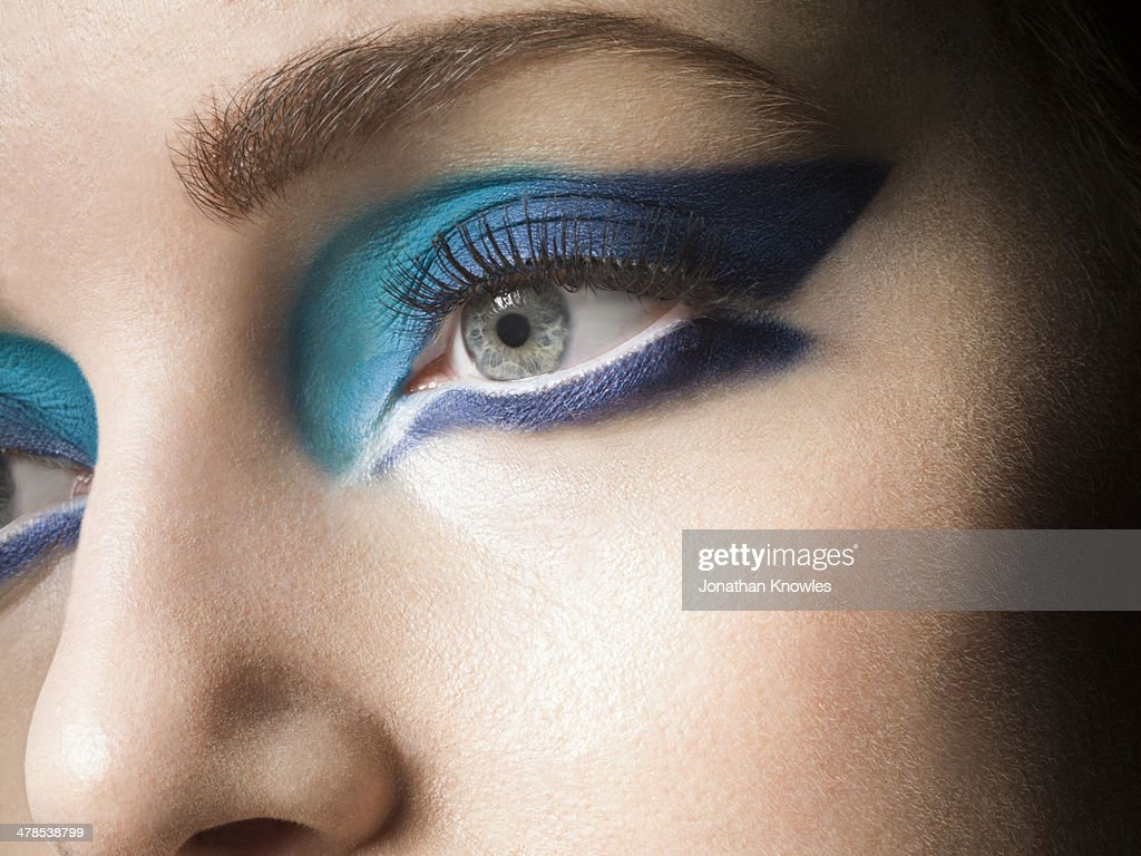 Female with vivid make up : Stock Photo