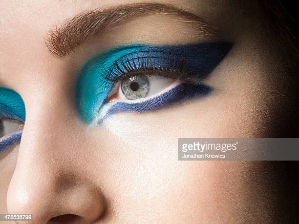 Female with vivid make up