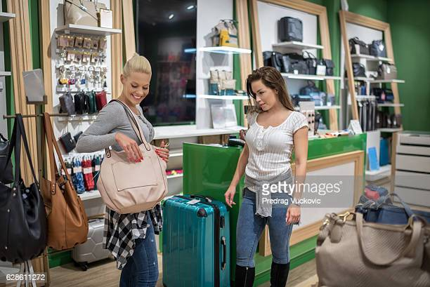Females in accessory store