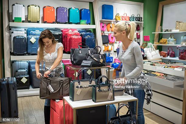 Females in luggage store