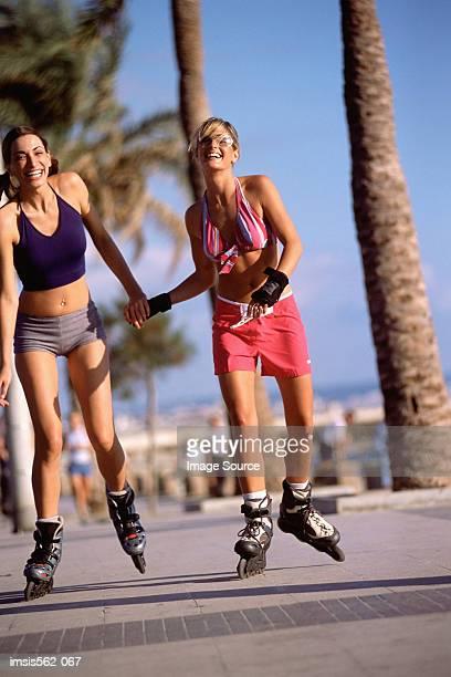 Frauen in-line Skaten