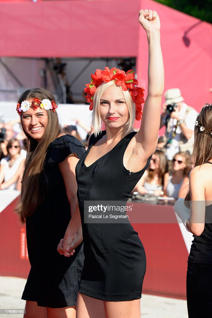 Femen activists attend the 'Sacro Gra' Premiere during the 70th Venice International Film Festival at the Palazzo del Cinema on September 5, 2013 in Venice, Italy.