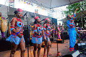 Femi Kuti performs onstage at Waterfront Blues Festival at Tom McCall Waterfront Park on July 1 2016 in Portland Oregon
