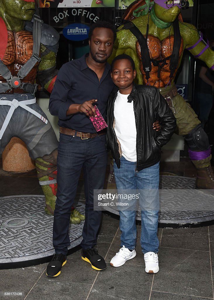 Femi Oyeniran arrives for the gala screening of 'Teenage Mutant Ninja Turtles: Out Of The Shadows' at Vue West End on May 29, 2016 in London, England.