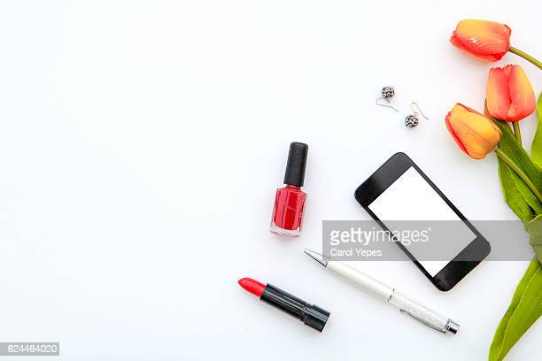 feminine cosmetic overhead studio desk