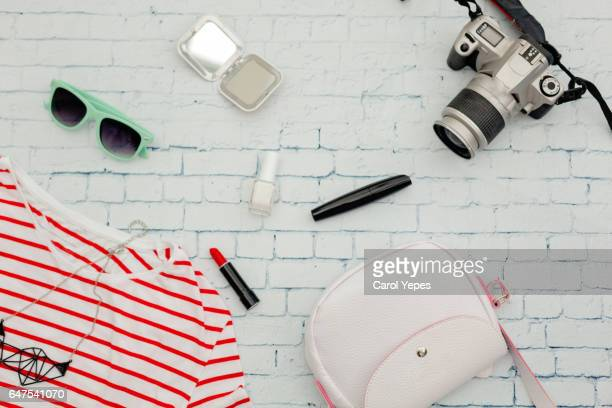 feminine items and accesories for a young ready to travel