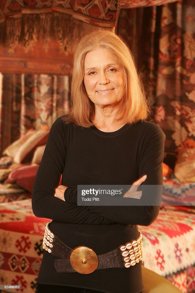 Feminist <a gi-track='captionPersonalityLinkClicked' href=/galleries/search?phrase=Gloria+Steinem&family=editorial&specificpeople=213078 ng-click='$event.stopPropagation()'>Gloria Steinem</a> poses for a portrait on January 21, 2005 in New York City.