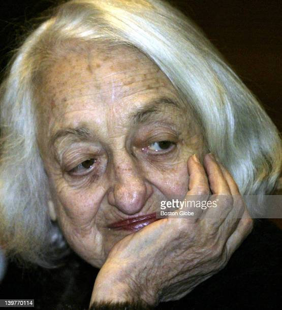 Feminist legend Betty Friedan author of 'the Feminine Mystique' and founder of the National Organization for women speaks to Wellesley College...