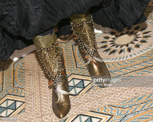 Feminist/political activist Gloria Steinem boot detail attends the 2016 Gloria Awards A Salute To Women of Vision Gala held at The Pierre Hotel on...