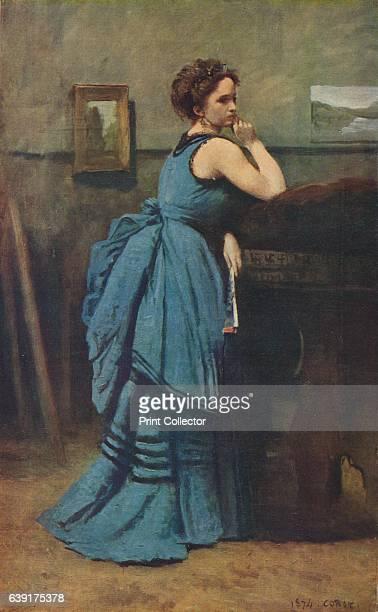 Femme en bleu' The painting is housed in Musée du Louvre Paris From Verve Nos 56 JulyOctober 1939 [Verve France 1939] Artist JeanBaptisteCamille Corot