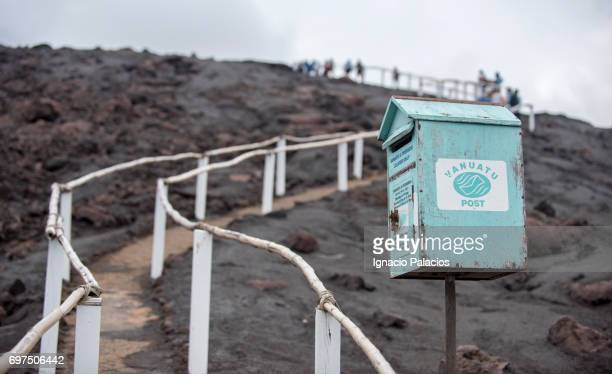 Fence and mail box to the top of Yasur volcano, Tanna Island