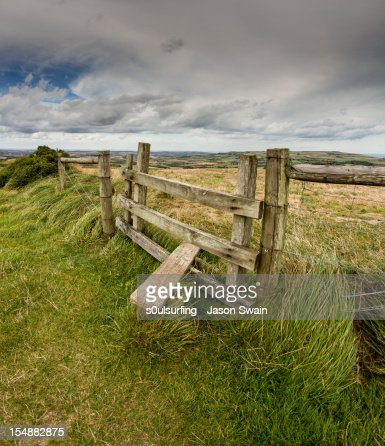 Fence and Stile : Stock Photo
