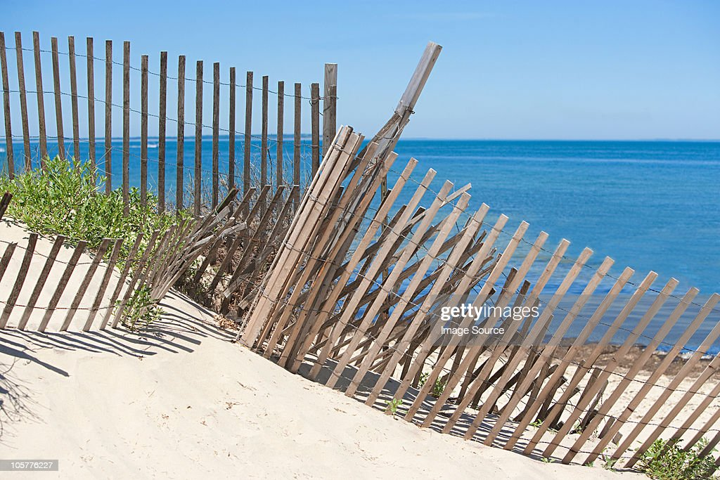 Fence on a beach, Montauk, Long Island