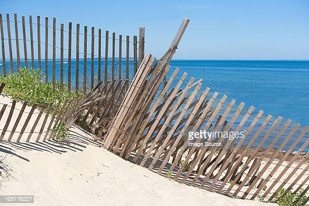 Fence on a beach, Montauk, Long Island