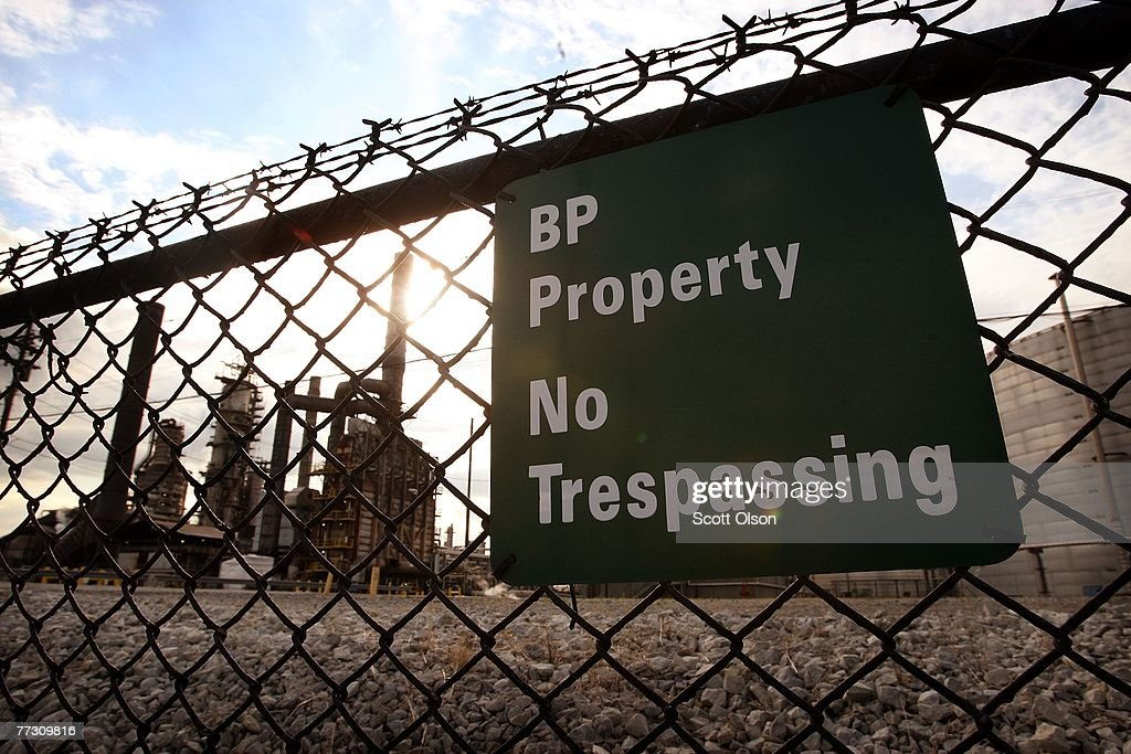 A fence surrounds the BP refinery October 12 2007 in Whiting Indiana The Indiana Department of Environmental Management is considering a proposal to...