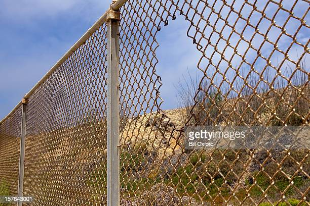 Fence with hole
