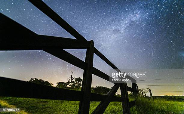 Fence with Milky Way