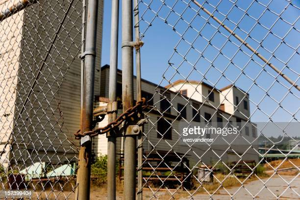 Fenced off Abandoned Factory