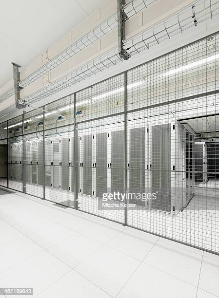 Fenced off section in data storage warehouse