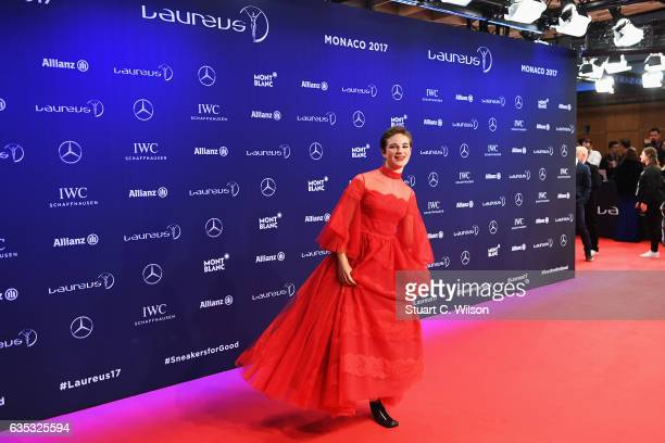 Fencer Beatrice Vio of Italy attends the 2017 Laureus World Sports Awards at the Salle des EtoilesSporting Monte Carlo on February 14 2017 in Monaco...