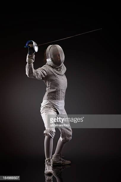 in der Defensive Position Fencer