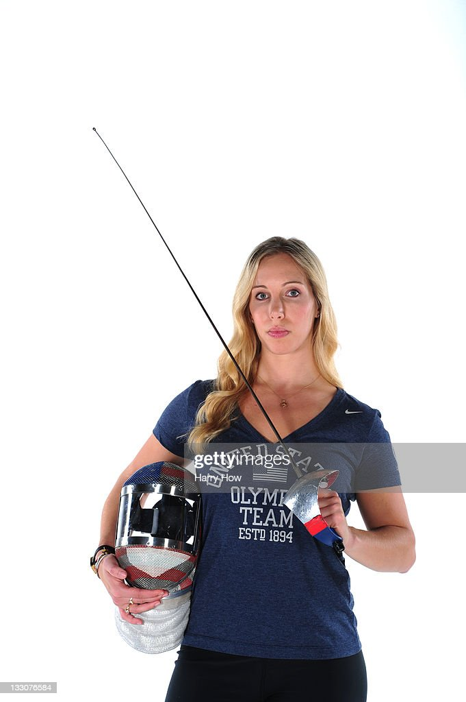 Fencer Mariel Zagunis poses for a portrait during the USOC Portrait Shoot at Smashbox West Hollywood on November 16 2011 in West Hollywood California