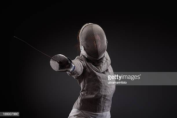 Fencer pose